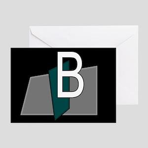 """B"" Teal Block Greeting Cards (Pk of 10)"