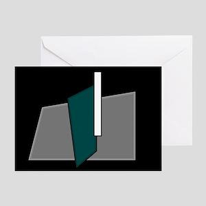 """I"" Teal Block Greeting Cards (Pk of 10)"