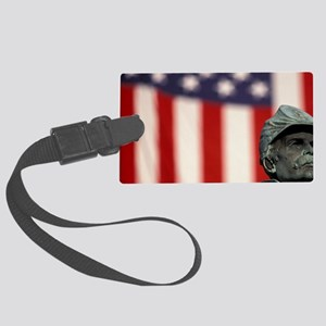 Denver. Civil War monument and U Large Luggage Tag