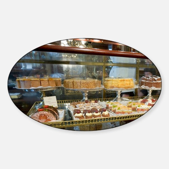 Cakes on display at Cafe Demel, Vie Sticker (Oval)