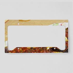 Grilled baked aubergine eggpl License Plate Holder