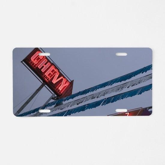 Chevy Car Dealer Neon Sign  Aluminum License Plate