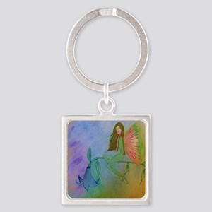 flower fairy CARD Square Keychain