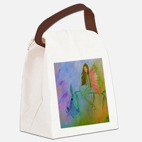 flower fairy CARD Canvas Lunch Bag