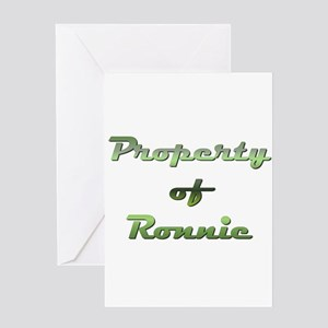 Property Of Ronnie Male Greeting Card