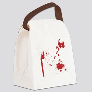 Keep Calm Kill Zombies blk Canvas Lunch Bag