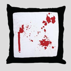 Keep Calm Kill Zombies blk Throw Pillow