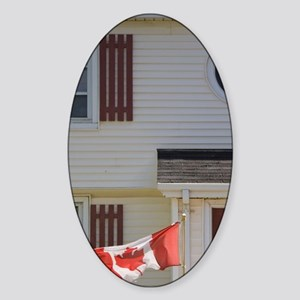 Charlottetown. Historic home flying Sticker (Oval)