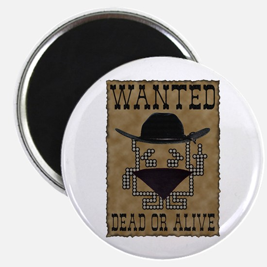 "Wanted Dead or Alive 2.25"" Magnet (10 pack)"