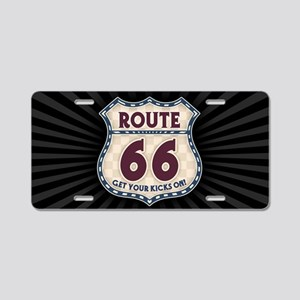 rt66-check-OV Aluminum License Plate