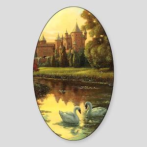 Swans Journal Sticker (Oval)