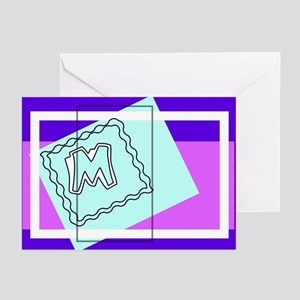 """""""M"""" Squiggly Square Greeting Cards (Pk of 10)"""