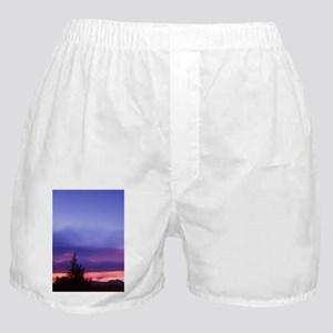 Cresent Moon Over Vermillion Lake in  Boxer Shorts