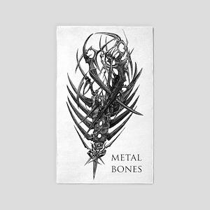 metal bones edited 3'x5' Area Rug