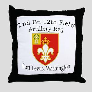 2nd Bn 12th BN FA Throw Pillow
