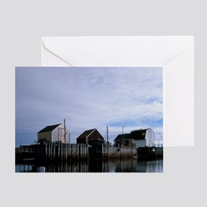 Blue Rocks. Early morning sunrise at Greeting Card