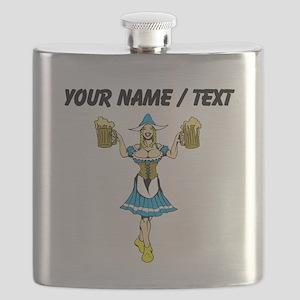 Custom German Woman Beer Server Flask