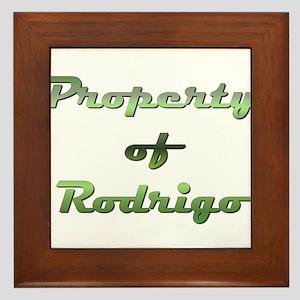 Property Of Rodrigo Male Framed Tile