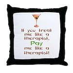 Bartender/Therapist Throw Pillow