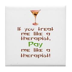 Bartender/Therapist Tile Coaster