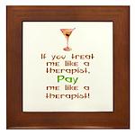 Bartender/Therapist Framed Tile
