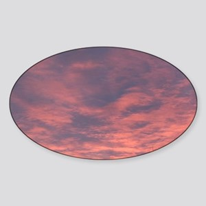 Edmonton: Dramatic Sunrise from For Sticker (Oval)