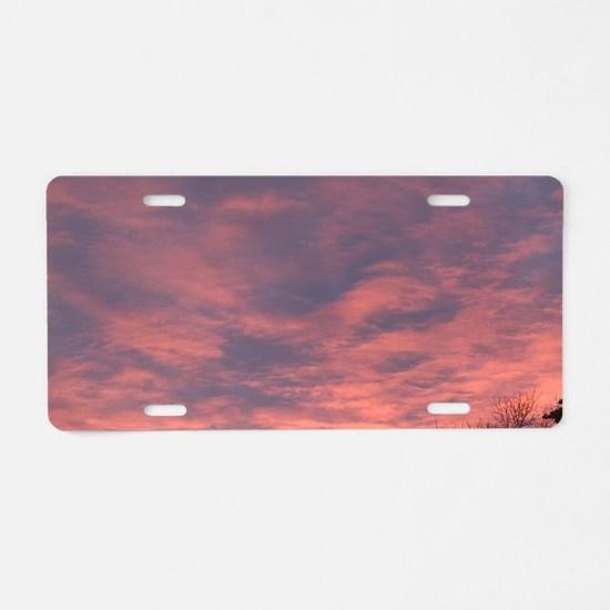Edmonton: Dramatic Sunrise  Aluminum License Plate