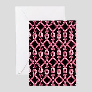 PinkRibThankYPb460ip2 Greeting Card