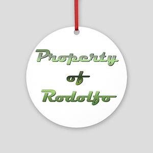 Property Of Rodolfo Male Round Ornament
