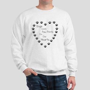 Dogs Leave Paw Prints 10 x 10 Sweatshirt