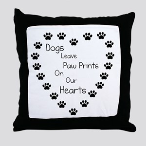 Dogs Leave Paw Prints 10 x 10 Throw Pillow