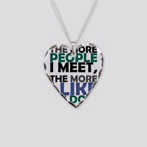 I like my dog Necklace Heart Charm