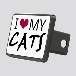 I heart my cats Rectangular Hitch Cover
