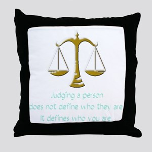 judging_light Throw Pillow