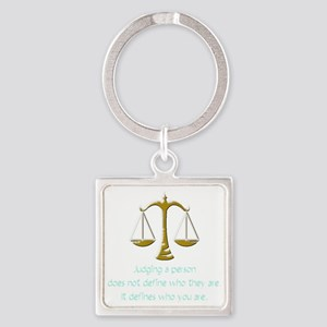 judging_light Square Keychain