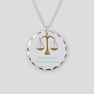 judging_light Necklace Circle Charm