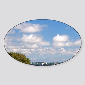 View from Fort Amherst of Charlotte Sticker (Oval)