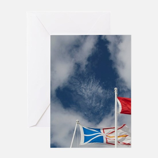 St. Anthony. Local flags Labrador, N Greeting Card