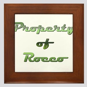 Property Of Rocco Male Framed Tile