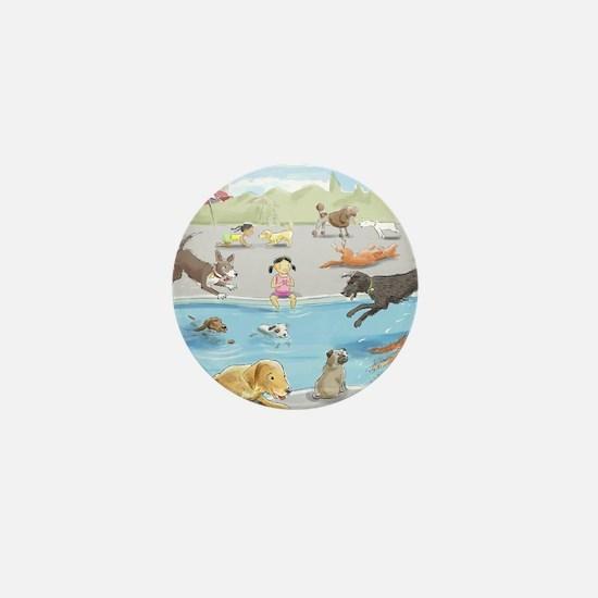 dog_pool_9X12_crp Mini Button