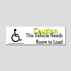 Caution Handicapped Car Magnet 10 x 3