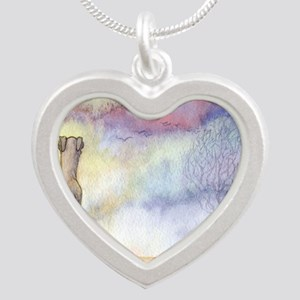 dawn of a new day Silver Heart Necklace