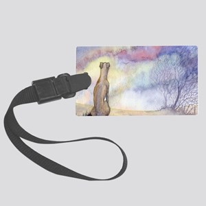 dawn of a new day Large Luggage Tag