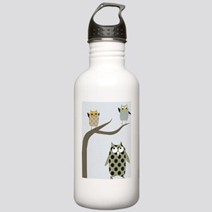 Retro Owls Stainless Water Bottle 1.0L