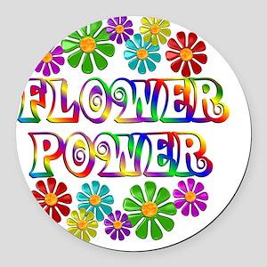 FlowerPower Round Car Magnet