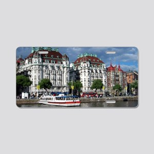 StockholmBoat-Long2 Aluminum License Plate