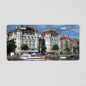 StockholmBoat-Long2 Aluminum License Plate