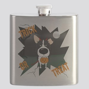 BorderCollieHalloweenShirt Flask