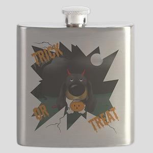 BlackDoxieHalloweenShirt1 Flask