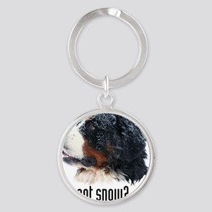 got_snow_mens wallet Round Keychain